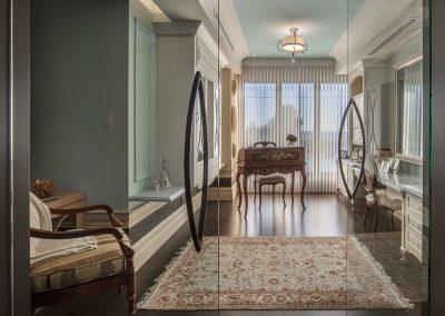 Aménagement intérieur et design d'un bureau de travail à la maison pour Madame