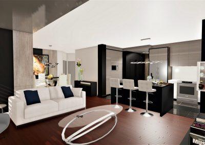 Aménagement intérieur et design intégral d'un condo / Conception des armoires de cuisine